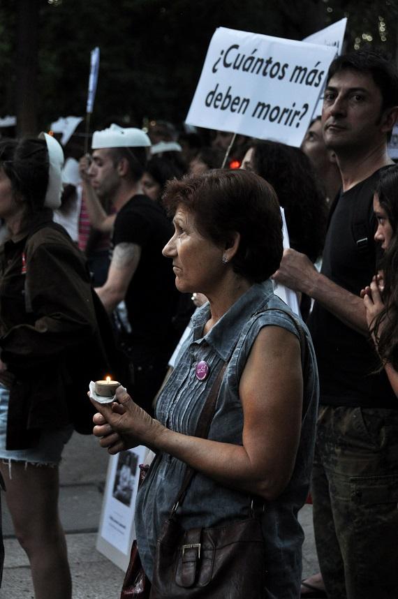 Concentración en la vigilia por Jeanneth Beltrán